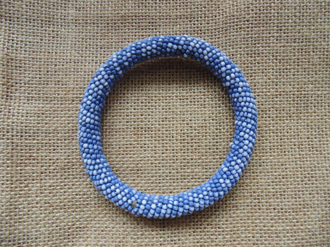 Beaded Bangle-Blue and Multi Colour Variation 2