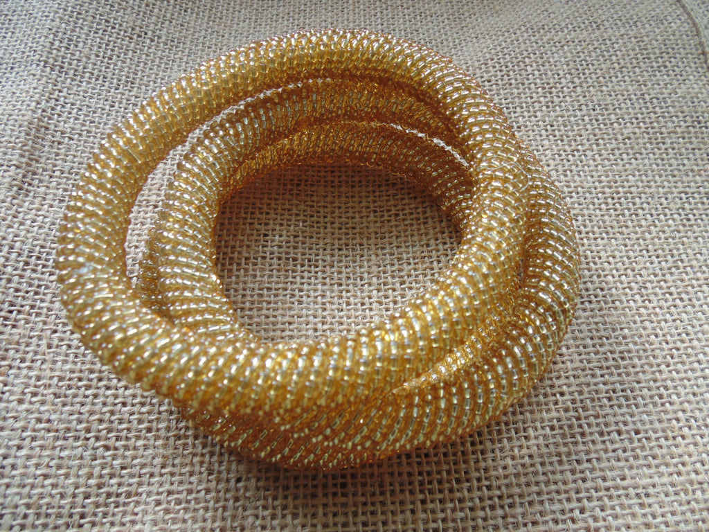 Beaded Bangle-Gold