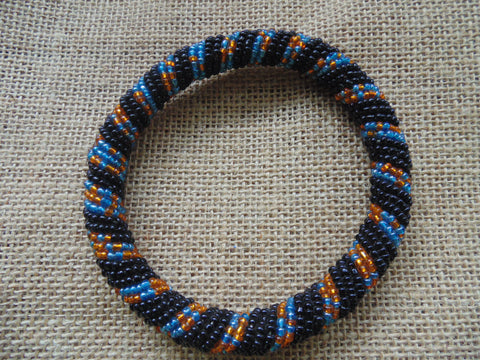 Beaded Bangle-Black and Multi Colour Variation 2