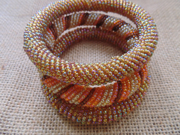 Beaded Bangle-Gold and Mutli Colour Variation - Lillon Boutique