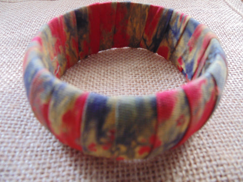 African Prints Bangle-Jumbo Red Variation