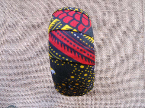 African Prints Bangle-Jumbo Red Variation 2