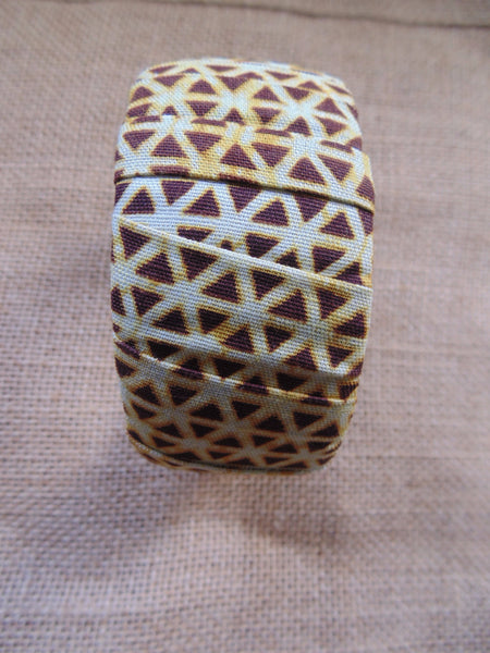 African Prints Bangle-Jumbo Brown Variation - Lillon Boutique
