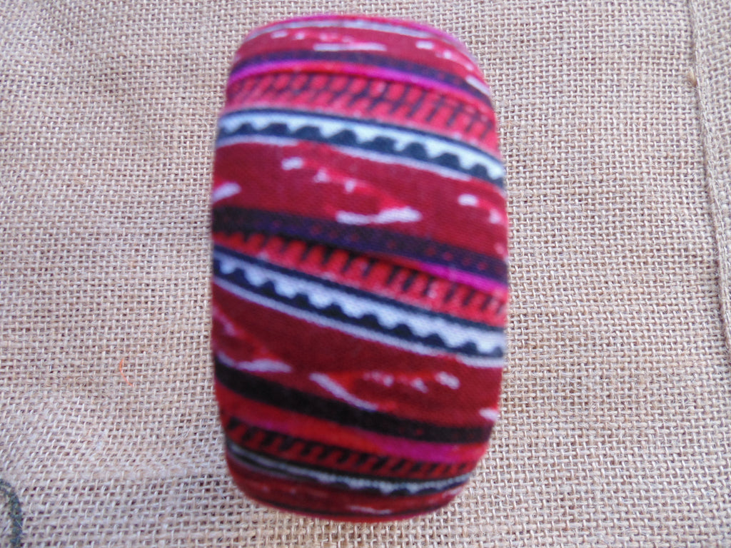 African Prints Bangle-Jumbo Red Variation 3