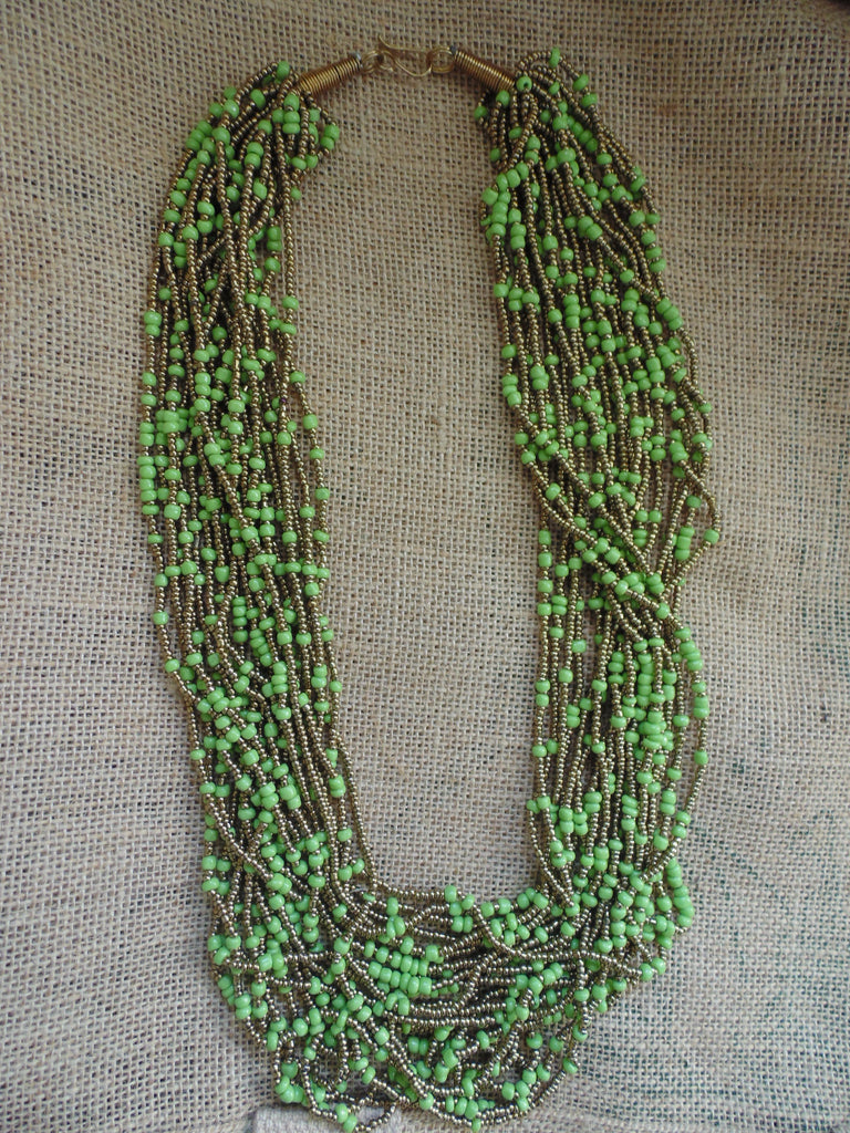 Bead Necklace-Green Variation