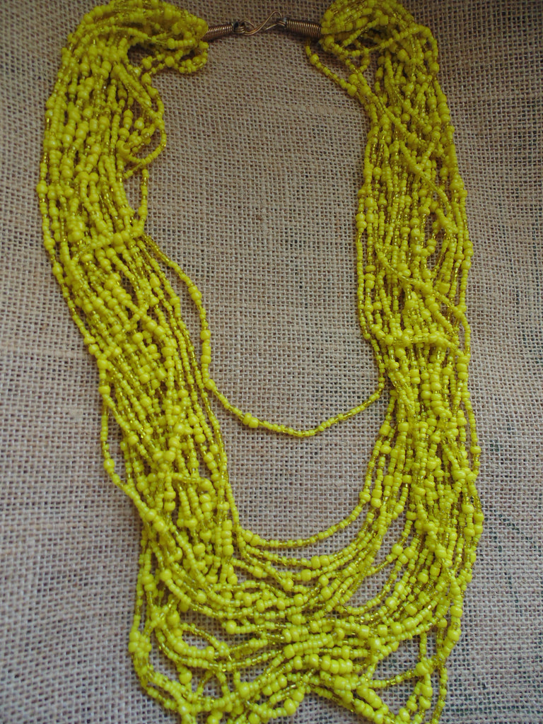 Bead Necklace-Yellow Variation