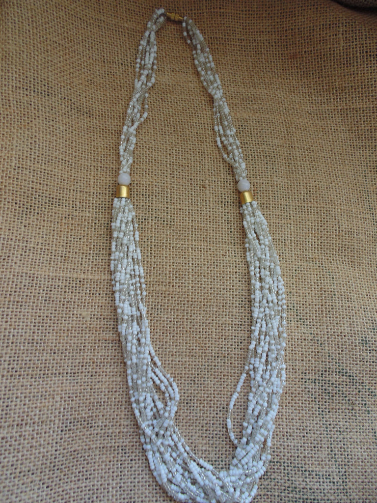 Bead Necklace-White Variation