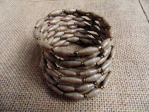 Paper Coil Bracelet-Taupe