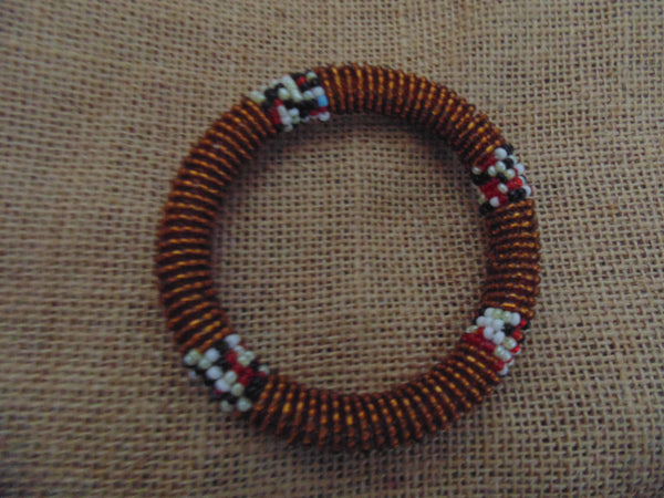 Beaded Bangle-Bronze and Multi Colour Variation - Lillon Boutique