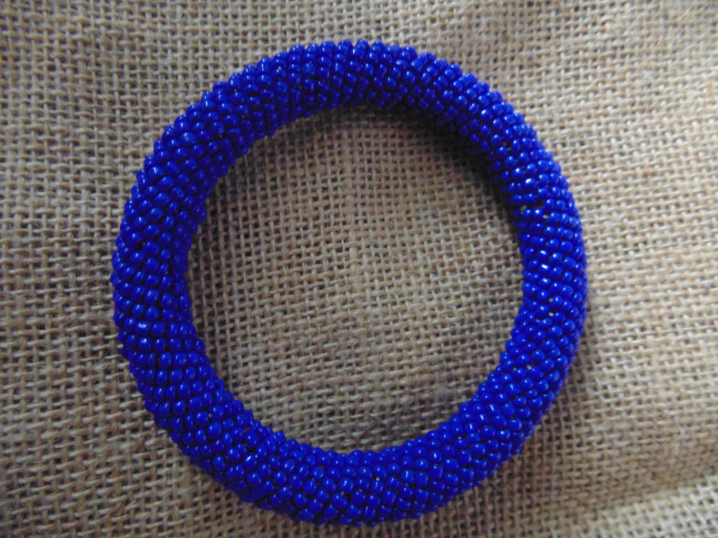Beaded Bangle-Blue