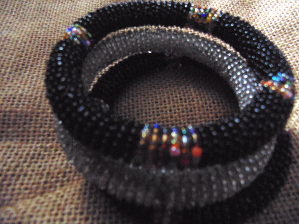 Beaded Bangle-Black and Multi Colour Variation - Lillon Boutique