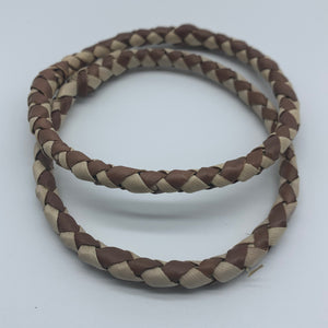 Basket Weave Bangle-Brown Dye Variation - Lillon Boutique