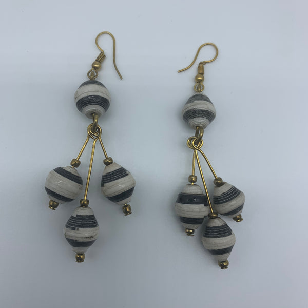 Recycled Paper Earrings-White Variation 2 - Lillon Boutique