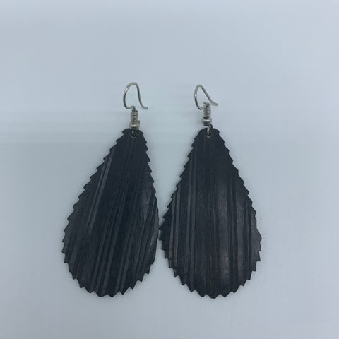 Wood Earrings- Rain Drop 3 - Lillon Boutique