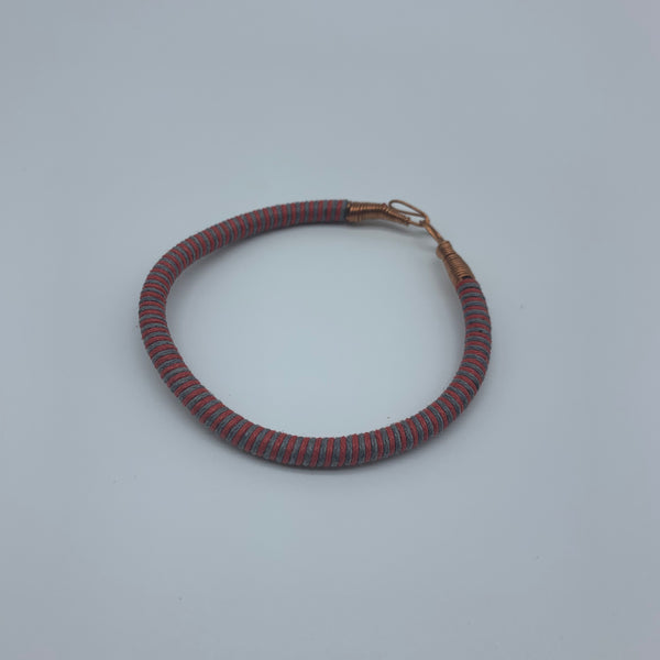 Thread W/Metal Wire Bracelet-Red Variation 3 - Lillon Boutique