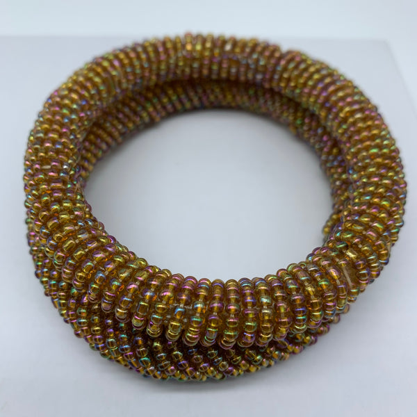 Beaded Bangle-Gold and Mutli Colour Variation