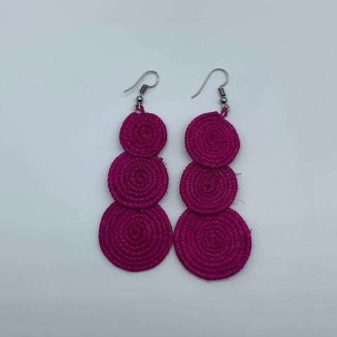Sisal Earrings- 3C Pink Variation - Lillon Boutique