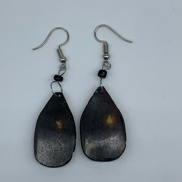 Cow Bone Earrings-Black and White 9