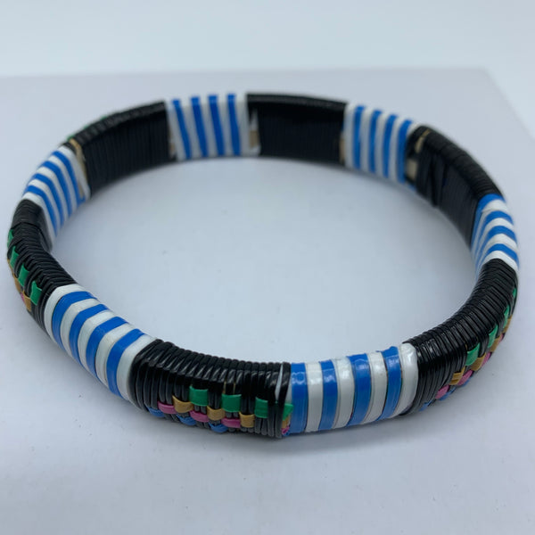 Plastic Bangle- L Blue Variation
