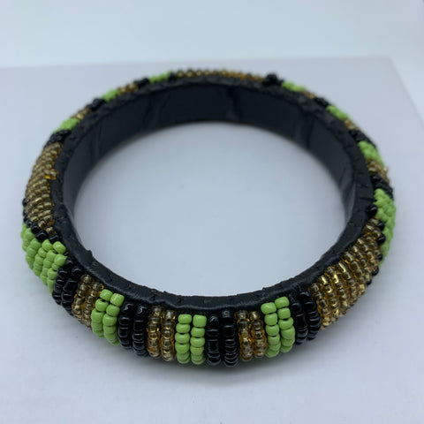 Beaded Bangle-Green Gold Black Variation