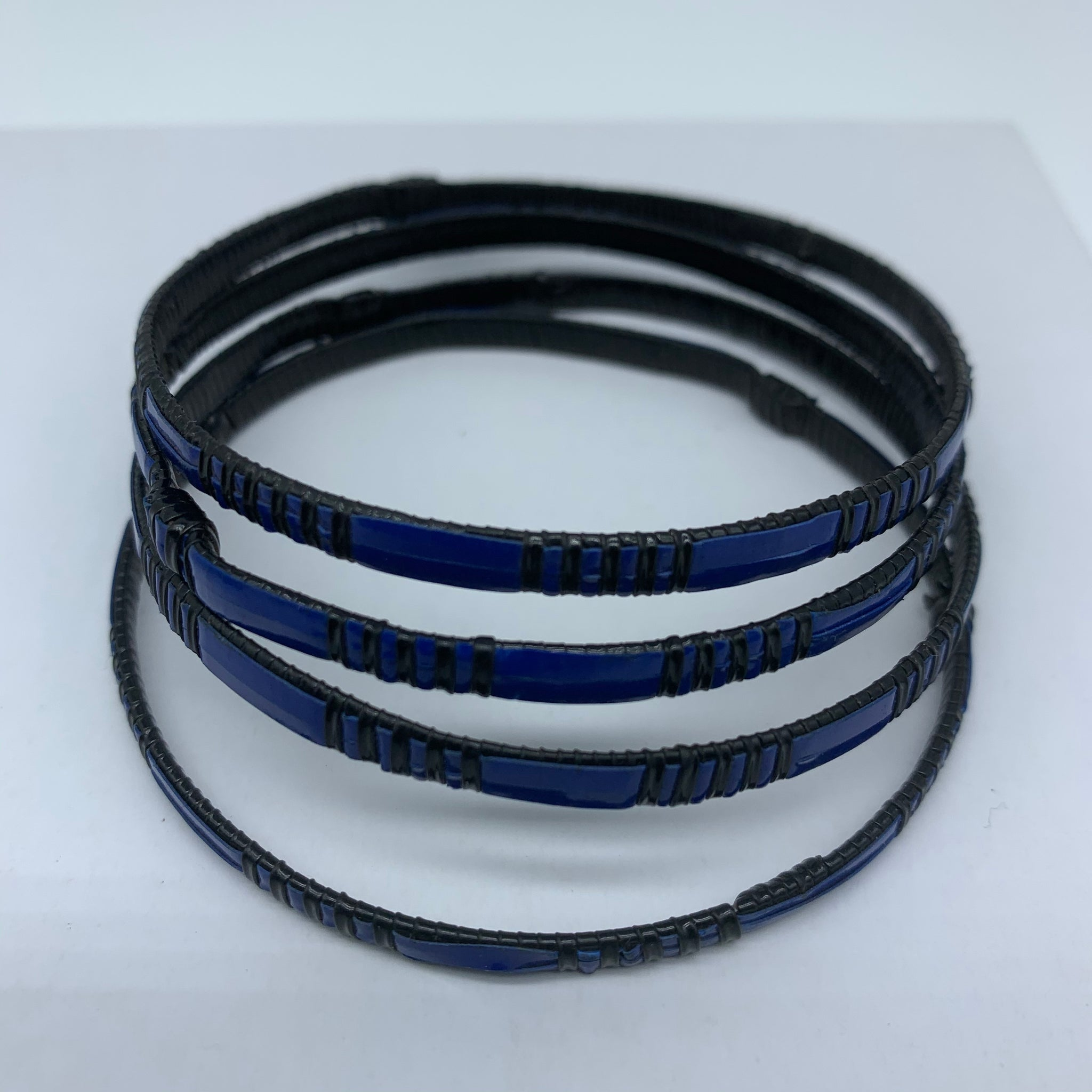 Metal W/ Plastic Bangle-XS Blue Variation