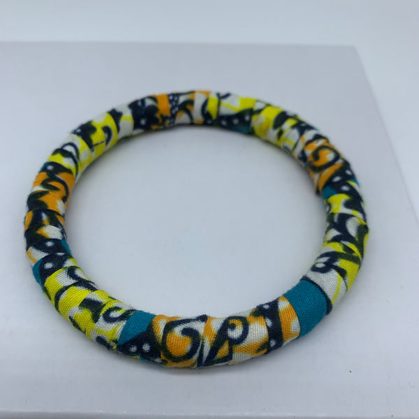 African Print Bangle-Yellow Variation 3 - Lillon Boutique