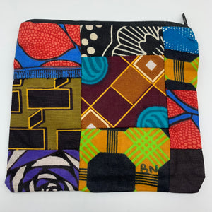 African Print Zoba Zoba Make Up Bag/ Pouch-M Multi Colour 14 - Lillon Boutique