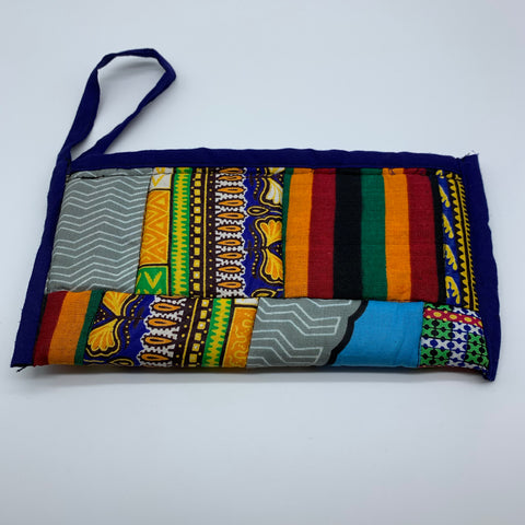 African Print Clutch /W Handle- Zoba Zoba Purple Variation - Lillon Boutique