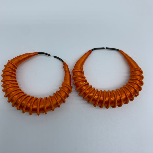 Malian Thread Earrings-Orange Variation