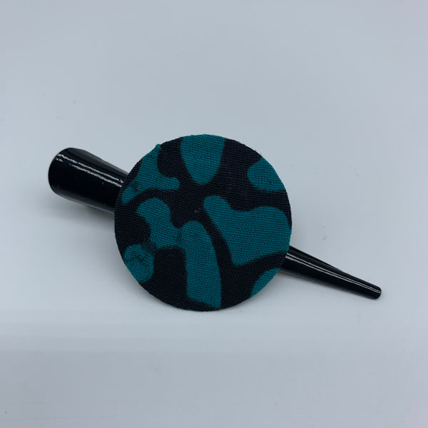 African Print Hair Clip-S Blue Variation - Lillon Boutique