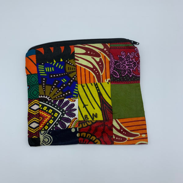 African Print Zoba Zoba Make Up Bag/ Pouch-M Multi Colour 17