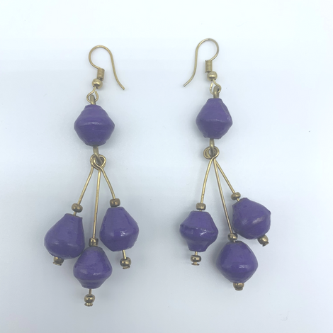Earrings-Recycled Paper