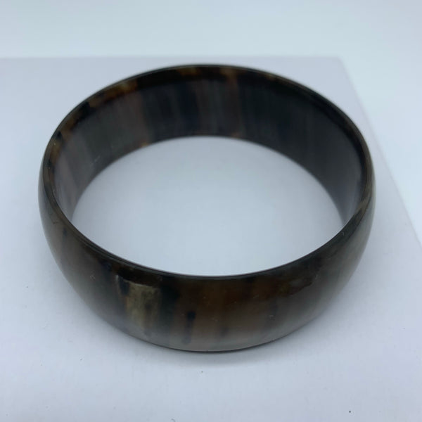 Cow Horn Bangle-L Black Variation 4