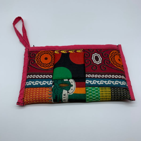 African Print Clutch /W Handle- Zoba Zoba Red Variation