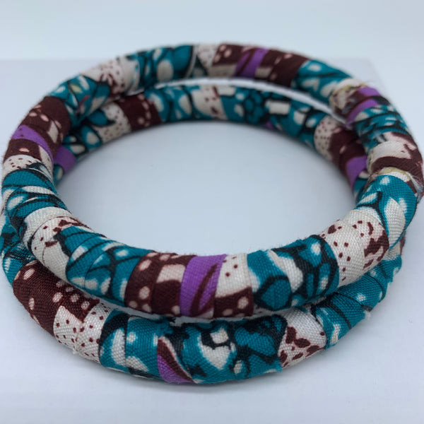 African Print Bangle-Blue Variation 3 - Lillon Boutique
