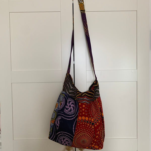 African Print Over Shoulder Bag- Zoba Zoba Multi Colour Variation 2