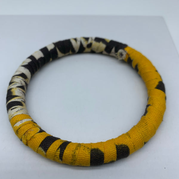African Print Bangle-Yellow Variation 2