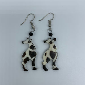 Cow Bone Earrings-Giraffe