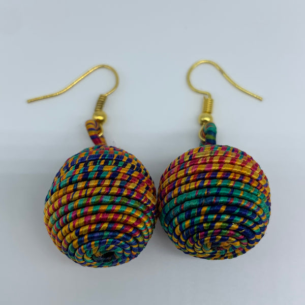 Thread W/Metal Earrings-Multi Colour 7