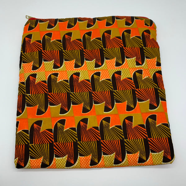 African Print Clutch- L Orange Variation