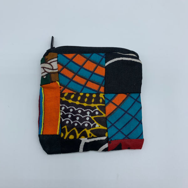 African Print Coin Purse- Zoba Zoba Multi Colour - Lillon Boutique