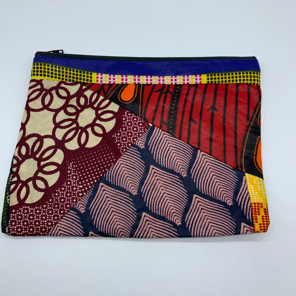 African Print Zoba Zoba Make Up Bag/ Pouch-L Multi Colour 4 - Lillon Boutique