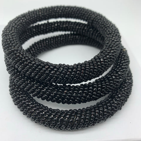 Beaded Bangle-Black