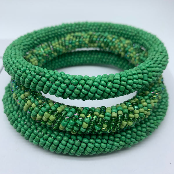 Beaded Bangle-Green