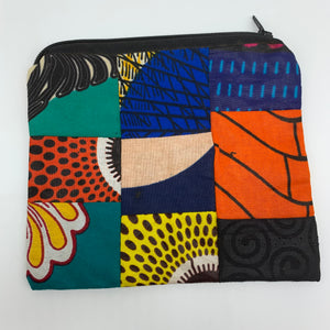 African Print Zoba Zoba Make Up Bag/ Pouch-M Multi Colour 9