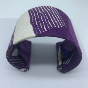 African Print Bangle- L Purple Variation