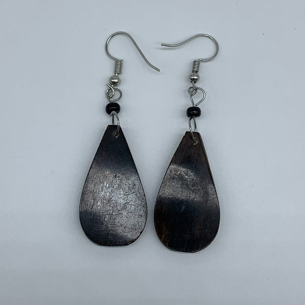 Cow Bone Earrings-Black and White 12