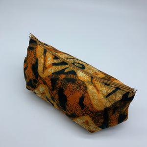 Orange variation African Print Makeup bag/Pencil case