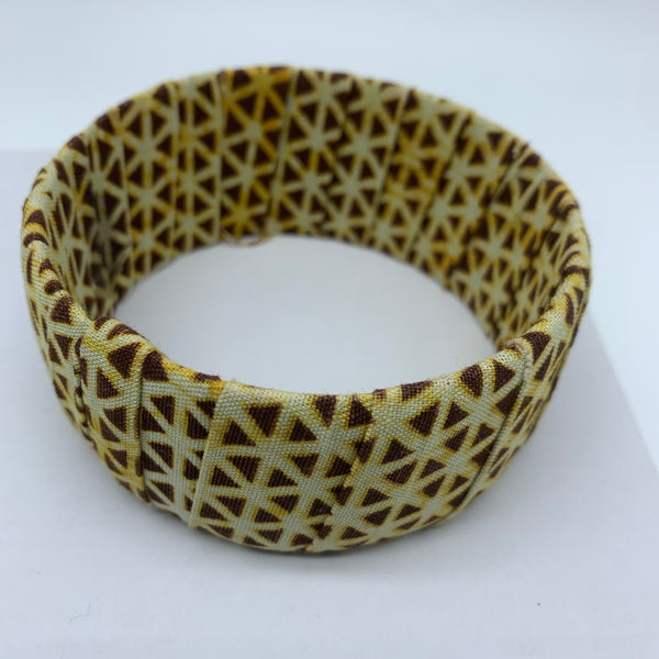 African Prints Bangle-Jumbo Brown Variation