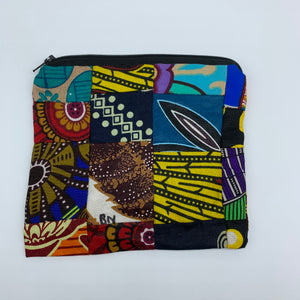 African Print Zoba Zoba Make Up Bag/ Pouch-M Multi Colour 17 - Lillon Boutique